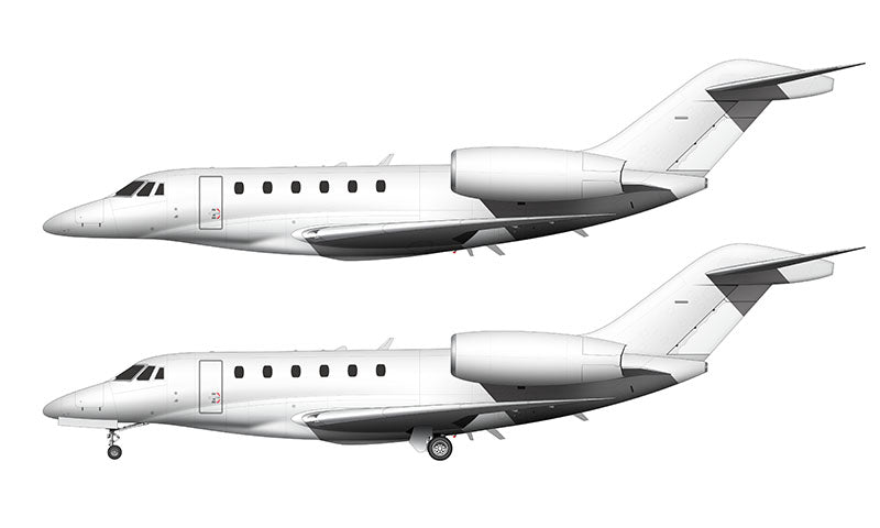 All White Cessna Citation X template