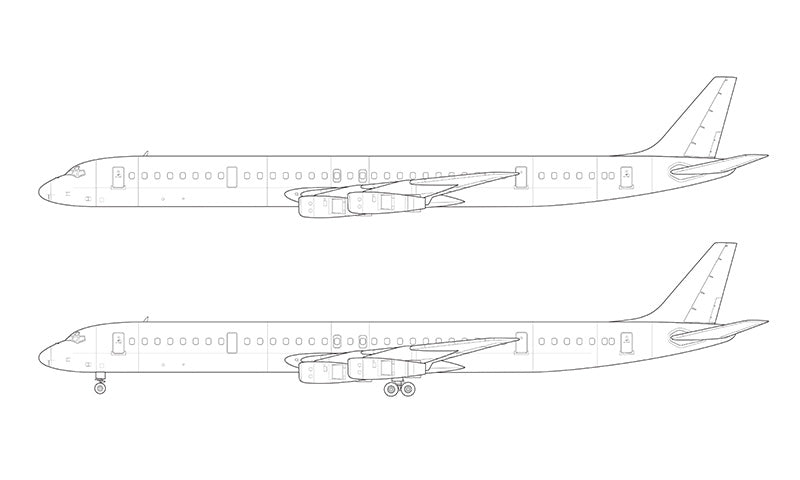 Douglas DC-8-61 line drawing