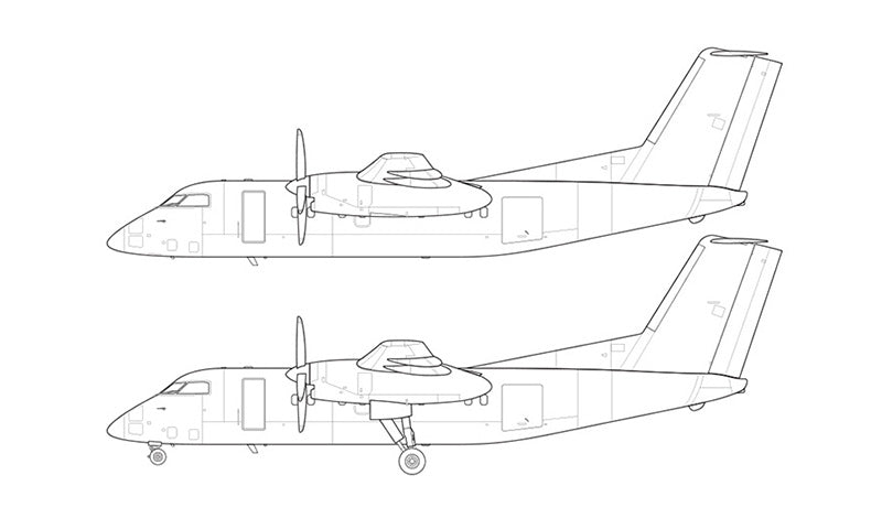 De Havilland DHC-8-200 line drawing