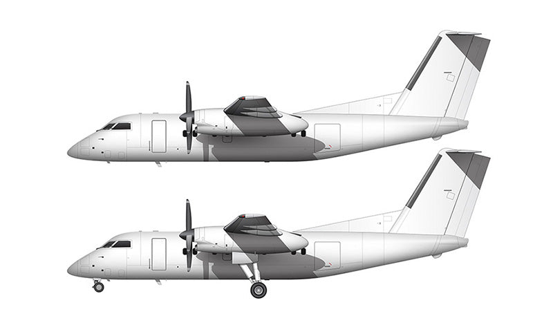 All White De Havilland DHC-8-200 template