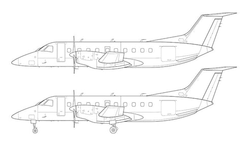 Embraer 120 Brasilia line drawing