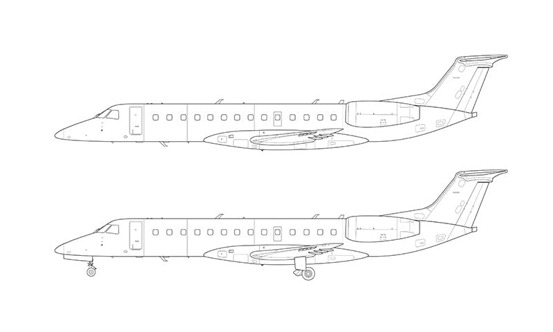 Embraer 135 line drawing