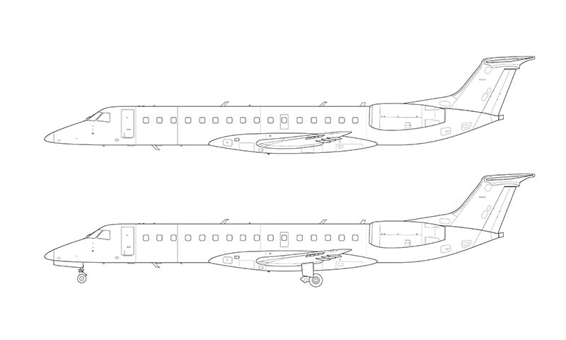 Embraer 140 line drawing