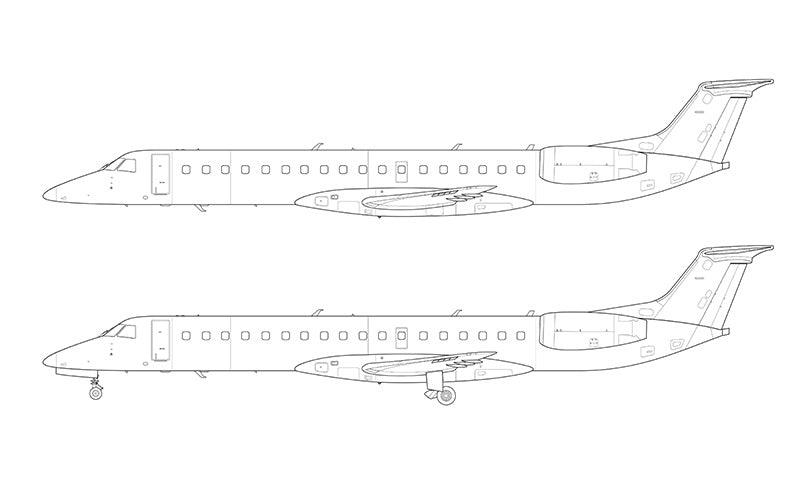 Embraer 145 line drawing