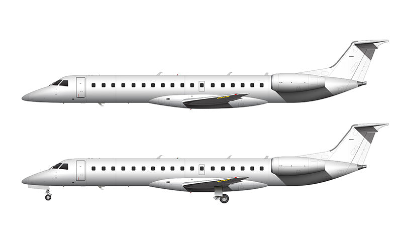 All White Embraer 145 template