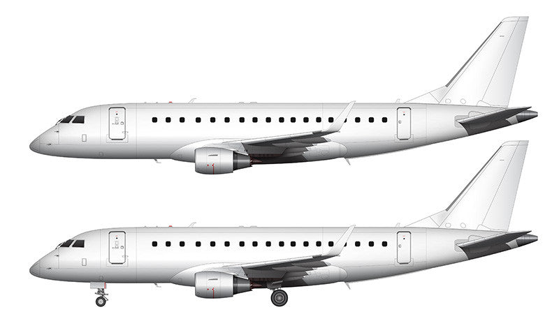 All White Embraer 175 template