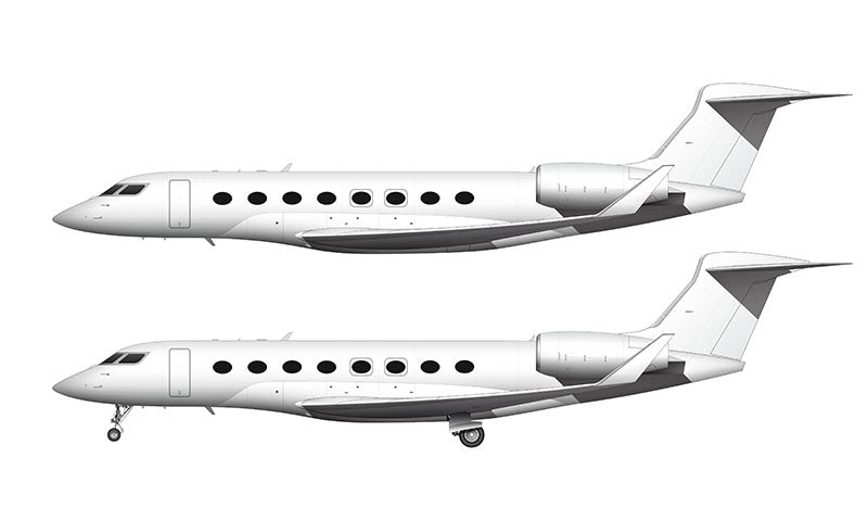 All White Gulfstream G650ER (G-VI) template