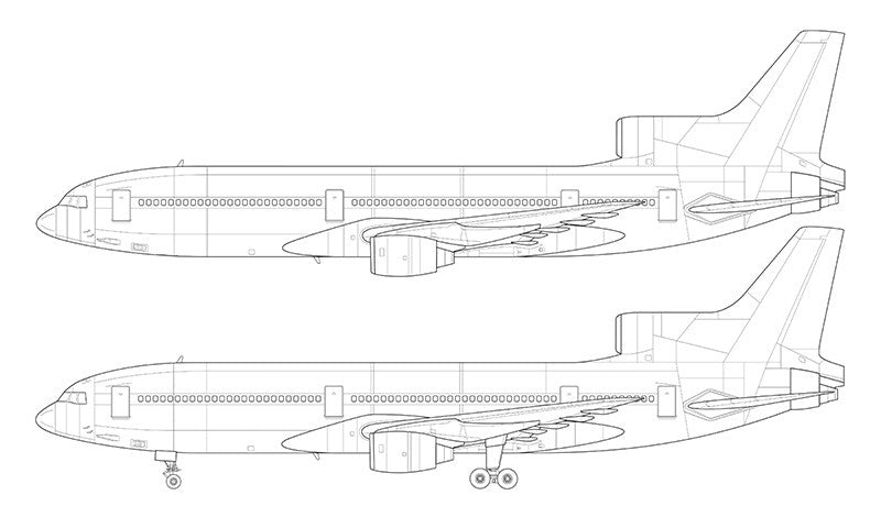 Lockheed L-1011-1 line drawing