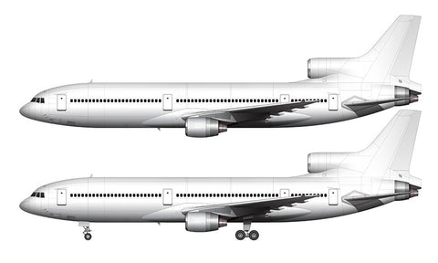 All White Lockheed L-1011-1 template