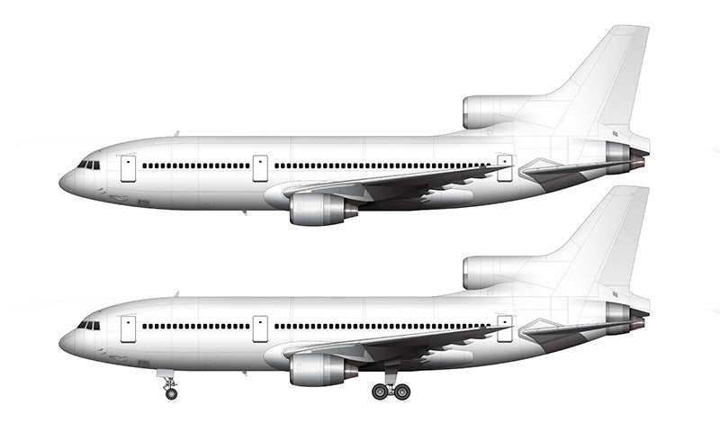 All White Lockheed L-1011-500 template