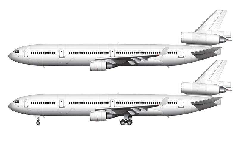 All White McDonnell Douglas MD-11 with GE engines template