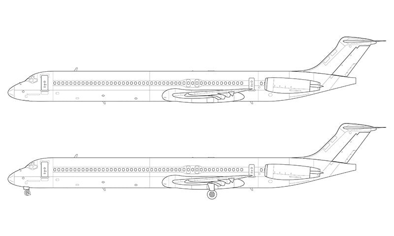 McDonnell Douglas MD-80 line drawing