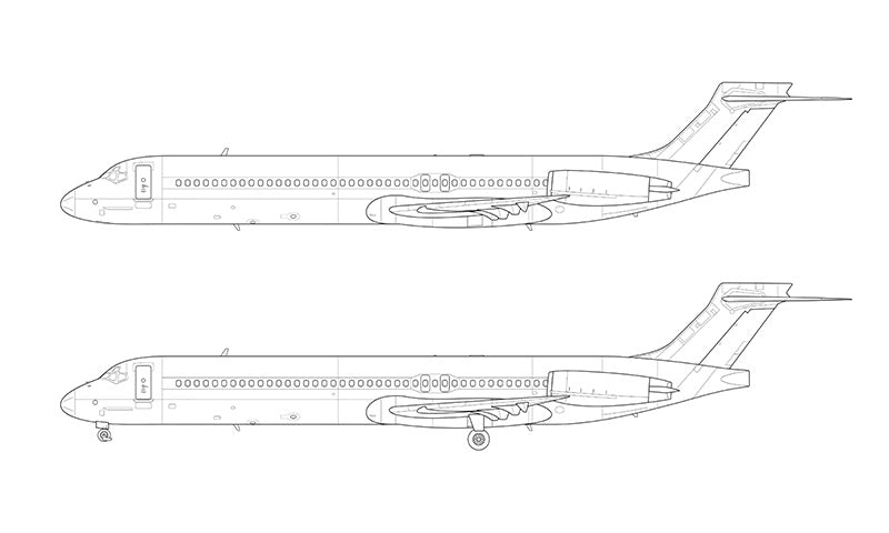 McDonnell Douglas MD-87 line drawing