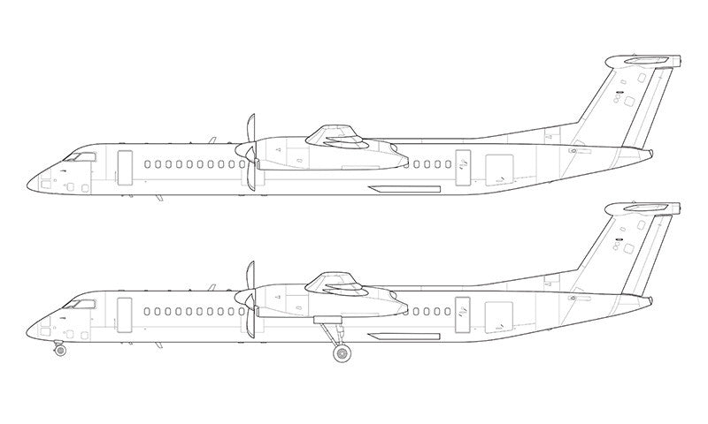 Bombardier DHC-8-402 Q400 line drawing