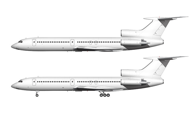All White Tupolev Tu-154M template