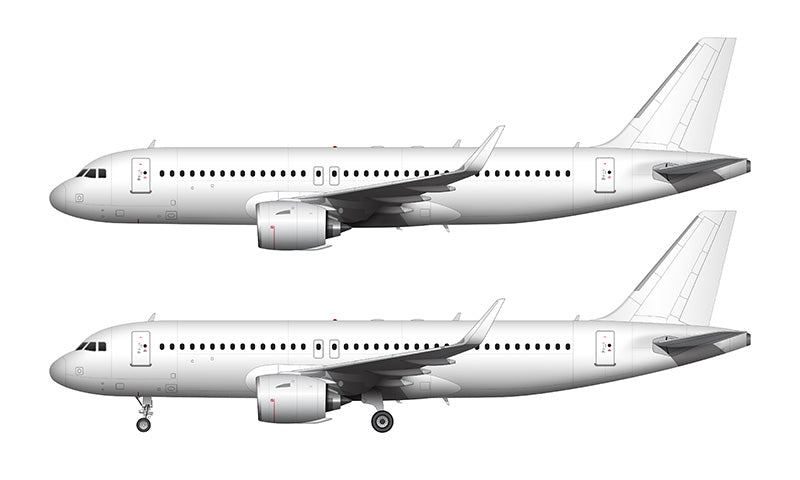 All White Airbus A320 NEO with Pratt & Whitney Engines template
