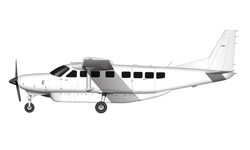 All White Cessna 208 Grand Caravan template