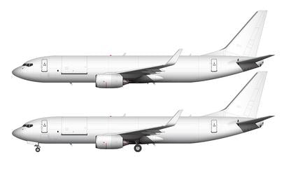 Airbus A350 blank template