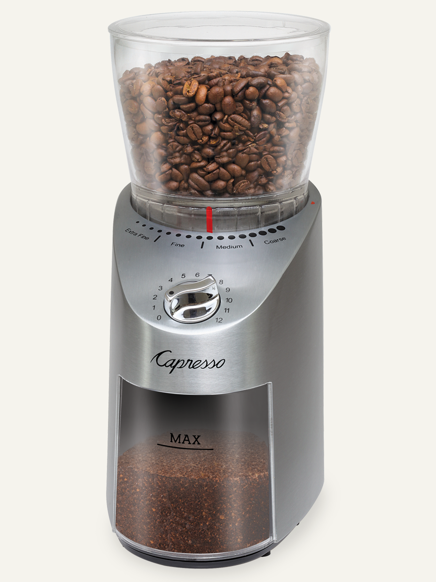 Capresso - Infinity Plus Conical Burr Grinder (stainless steel)