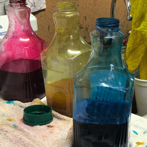 Mixing colors to dye our fabrics with Procion Fiber Reactive Dyes