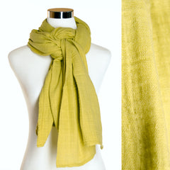 Finished Product - Cotton Gauze Chartreuse Scarf by ColorUpLife
