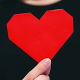 red paper heart photo by photographer Sarah Pflug of Shopify Burst