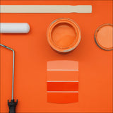 orange paint supplies