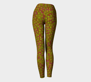 Yoga Leggings - Compression Fit - Olive - Be Square