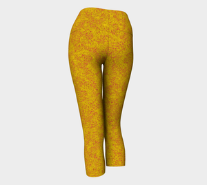yoga capris - yellow - zen style - back view - ColorUpLife