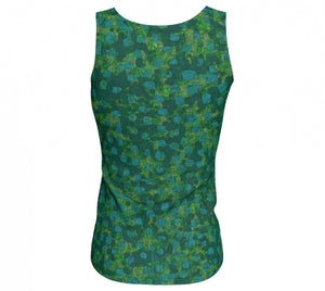 fitted tank - teal - be square style - back view - ColorUpLife