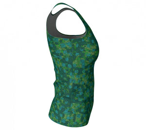 fitted tank - teal - be square style - side view - ColorUpLife