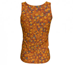 fitted tank - copper - be square style - back view - ColorUpLife