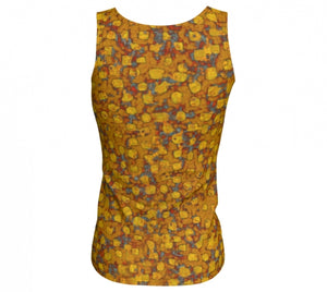 fitted tank - mustard - be square style - back view - ColorUpLife