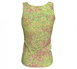fitted tank - green - sweet pea style - back view - ColorUpLife