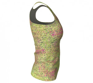 fitted tank - green - sweet pea style - side view - ColorUpLife