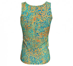 fitted tank - turquoise - sweet pea style - back view - ColorUpLife