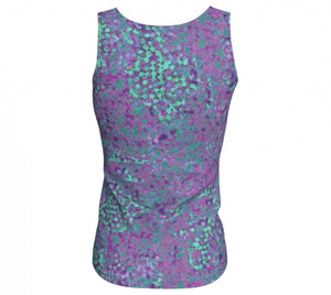 fitted tank - lavender - reef style - back view - ColorUpLife