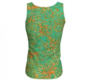 fitted tank - green - reef style - back view - ColorUpLife