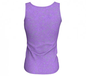 fitted tank - lavender - zen style - back view - ColorUpLife