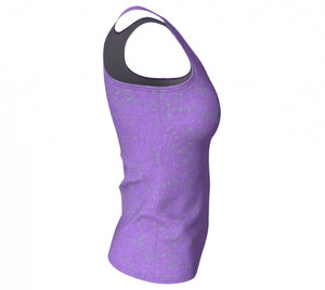 fitted tank - lavender - zen style - side view - ColorUpLife