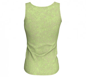fitted tank - green - zen style - back view - ColorUpLife