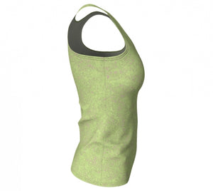 fitted tank - green - zen style - side view - ColorUpLife