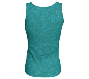 fitted tank - teal - zen style - back view - ColorUpLife