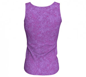 fitted tank - plum - zen style - back view - ColorUpLife