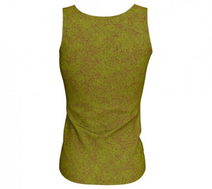 fitted tank - olive - zen style - back view - ColorUpLife