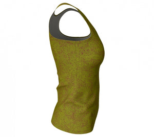 fitted tank - olive - zen style - side view - ColorUpLife