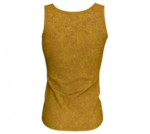 fitted tank - mustard - zen style - back view - ColorUpLife