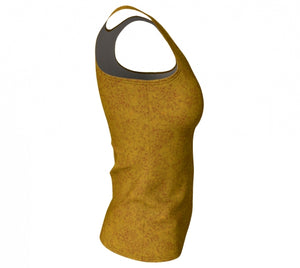 fitted tank - mustard - zen style - side view - ColorUpLife