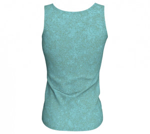 fitted tank - smokey teal - zen style - back view - ColorUpLife