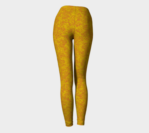 yoga leggings - yellow - zen style - back view - ColorUpLife